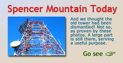 Spencer Mountain today. And we thought the old WBTV tower had been dismantled!